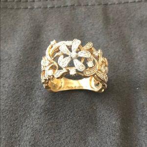 Effy Floral Diamond 14K Diamond Ring Size 6